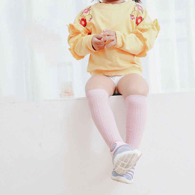 Peuter Meisjes Knie Hoge Effen Sokken Leuke Beenwarmers Herfst Baby Kid Sokken Voor Meisjes