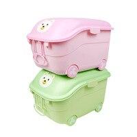 2019 새로운 아기 트롤리 가방 컨테이너 스토리지 박스 가방에 바퀴 어린이 장난감 하드 리지드 가방 어린이 가방