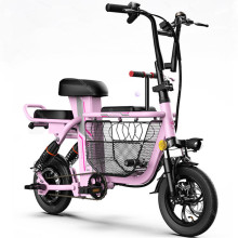 Electric Bicycles Removable Kick-Scooter Folding Mini 350W 12inch 48V Pet-Basket/gps