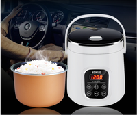12V 24V mini rice cooker 1.6L car trucks electric soup porridge cooking machine food steamer warmer fast heating lunch box