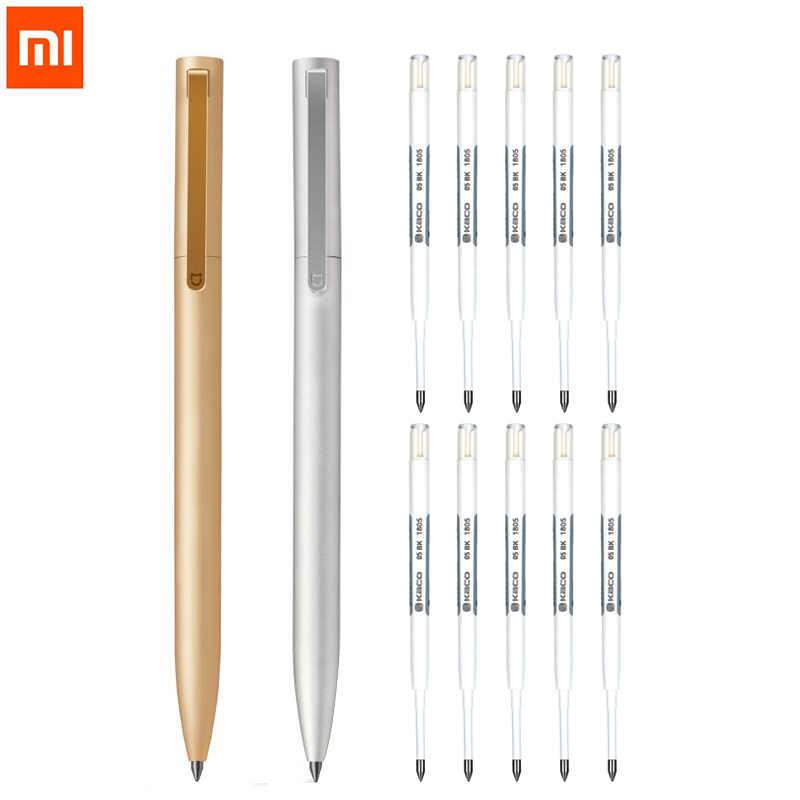 قلم تسجيل معدني أصلي من شاومي Mijia قلم توقيع من Mijia 0.5 مللي متر من PREMEC عبوة ناعمة من سويسرا حبر أسود وأزرق