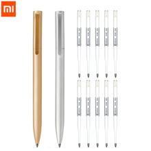 Oryginalny xiaomi Mijia metalowy długopis długopis Mijia pióro do podpisywania 0 5MM PREMEC gładki szwajcarski wkład czarny niebieski atrament tanie tanio Xiaomi Metal Sign Pen Biuro i szkoła pen