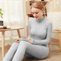 Women's Thermal Underwear Female Long Johns Winter Thermal Set Warm Clothes For Ladies Breathable Long Johns Seamless Body Suit