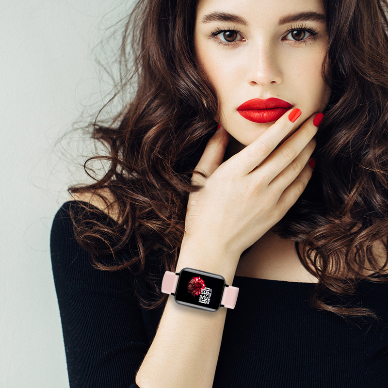 B57 relógios inteligentes à prova dwaterproof água esportes para iphone telefone smartwatch monitor de freqüência cardíaca funções de pressão arterial para mulher masculino garoto 5