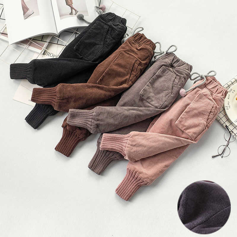 Winter Baby Girls Legging Plus Velvet Thickening Fleece Warm Leggings Pants for Girl Kids Winter Pants Trousers Children's Pants