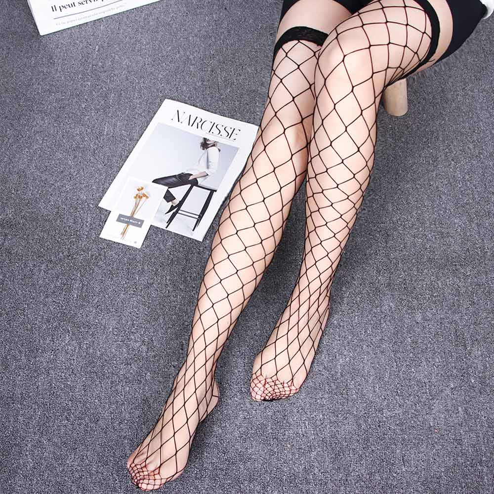 Summer Style 4 Colors Women Net Sexy Lady Large Nylon Top Mesh Fishnet Thigh High Stockings
