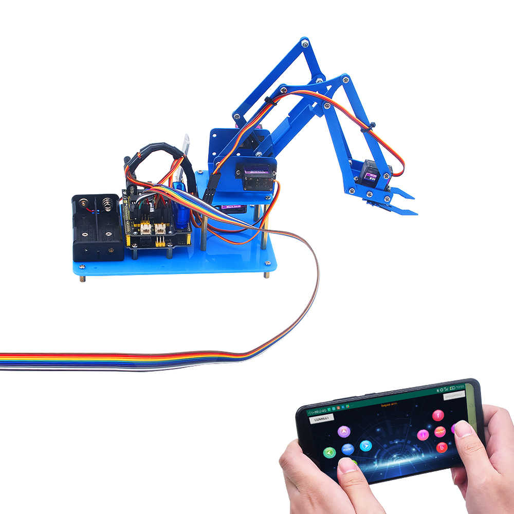 Keyestudio 4DF Mechanical PS2 Joystick Metallic Robot Arm Learning Starter  Kit V2.0 for Arduino DIY| | - AliExpress