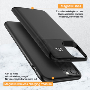 Image 2 - Battery Case For iPhone 11 Pro Max Digital Display Magnetic Charge Powerbank Case Battery Charger Case Power Bank For iPhone XS