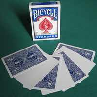 1 Deck Bicycle Blank Face Red/Blue Back Playing Cards Gaff Magic Cards Special Props Close Up Stage Magic Tricks for Magician