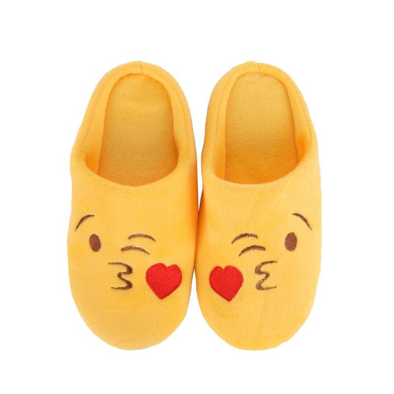 Fashion Expression Package Cotton Slippers Winter Children Girls Boys Love Smiling Face Section Flip Flop  New Arrivals