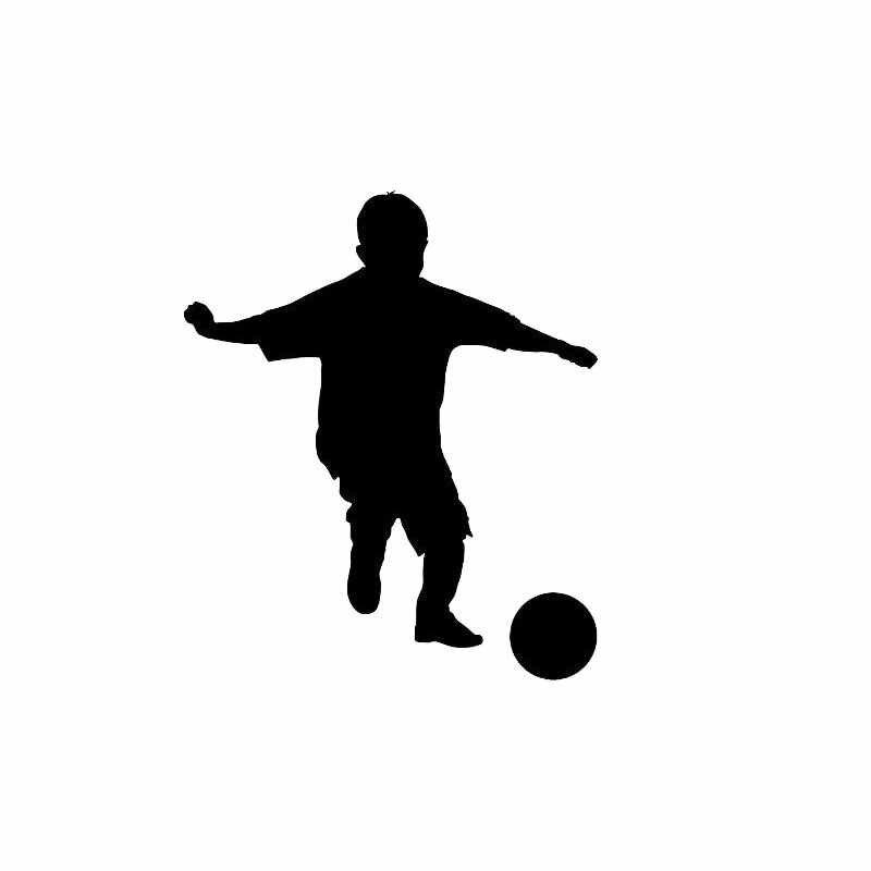 YJZT الرياضة كرة القدم لاعب كرة القدم الصبي الديكور جدار غرفة المنزل الفينيل ملصق تحويل الشارات S18-0110