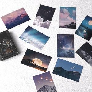28 листов/набор, мини-открытка в виде звёзд