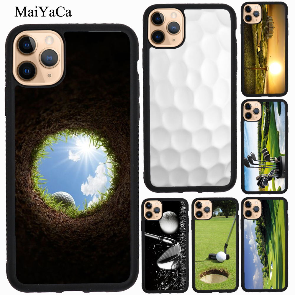 Maiyaca Sport Golf Ball Course Field Tpu Case For Iphone 7 8 Plus Xr X Xs Max 5s Se 2020 6s 11 Pro Max Cover Shell Fitted Cases Aliexpress