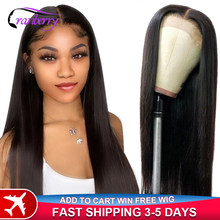 Cranberry Hair Brazilian Straight Closure Wig Human Hair Wigs For Black Women 4x4 Closure Wig Part Lace Wig Pre Plucked Hairline