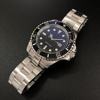 STEELDIVE 1987 Plus 44mm reloj mecánico de los hombres grandes Japón Original 8215 reloj automático de C3 luminosa reloj de buceo 200M hombre