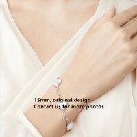 Elegant Original Hot Brand 5 Charms Women Bracelet 100% Real Sterling Silver Set Real Stone Top Quality Luxury Bijoux Women Gift