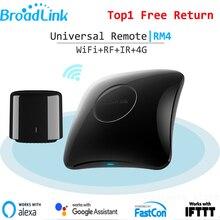 Broadlink fixcon controle remoto inteligente, pro rm4 rm4c mini ir + rf + 4g, controle remoto universal para casa inteligente para alexa google home