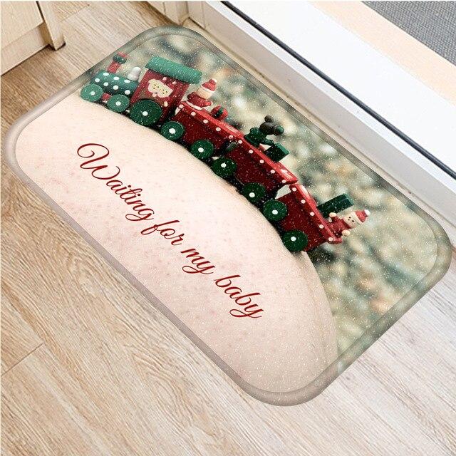 クリスマスカーペットサンタフランネルカーペットカーペットキッチンマット家の装飾さまざまなスタイルクリスマスフロアマット 40 × 60 センチメートル..