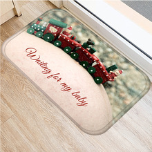 Christmas Carpet Santa Flannel Carpet Non slip Carpet Kitchen Mat Home Decoration Various Style Christmas Floor Mat 40x60cm   ..