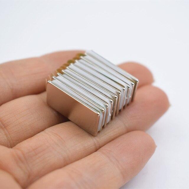 Фото 10 шт n52 неодимовый магнит с 3м клеем маленький блок супер