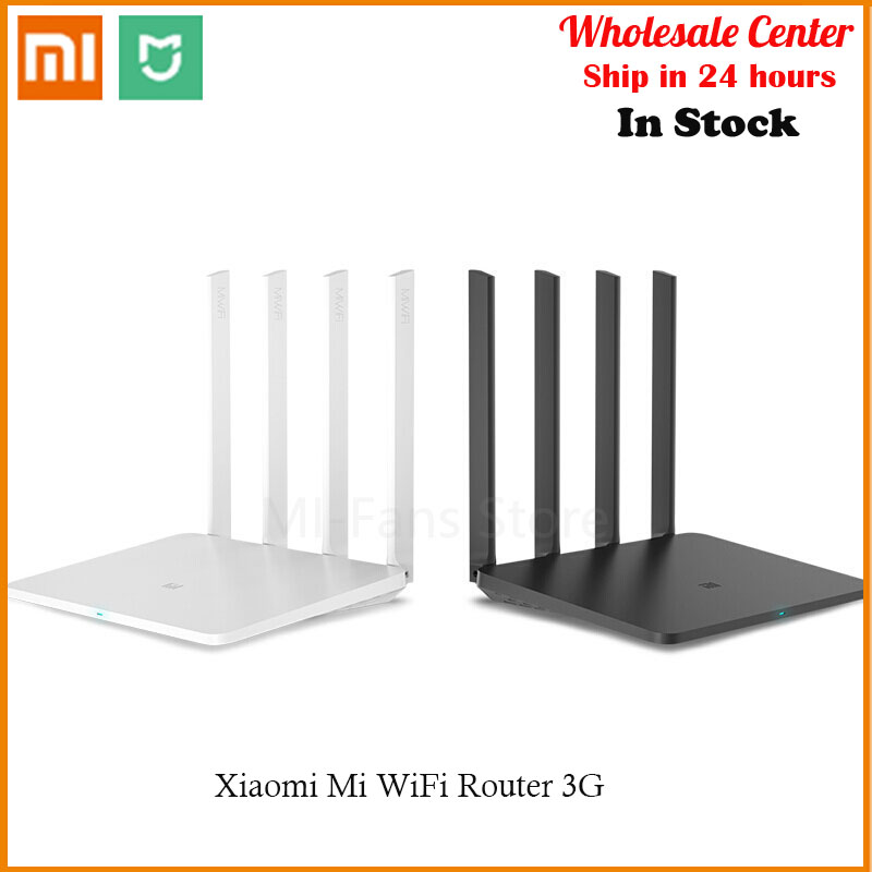 In-Stock  WiFi Router 3G Original Xiaomi Mi 2.4GHz 5GHz Dual Band 1167Mbps Powerful High-Gain Antennas 128MB ROM Wi-Fi 802.11ac