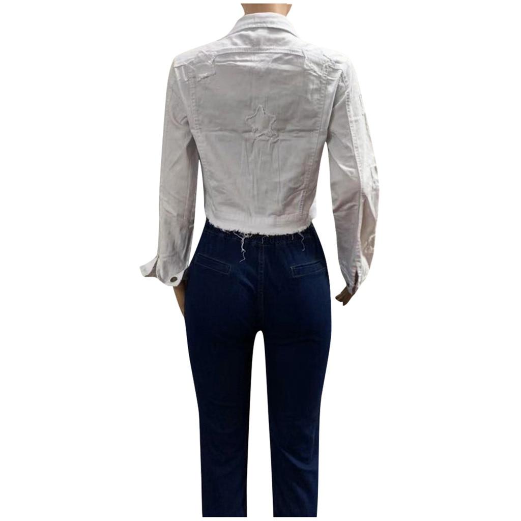 He2bf6d74e882479d97f999ae351c8077c 2019 Autumn And Winter Women Denim Jacket Vintage Cropped Short Denim Coat Long-sleeve Slim Jeans Coat For Women#J30