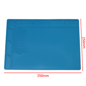 Image 5 - S 170 S 160 S 150 S 140 Heat Insulation Silicone Soldering Pad Mat Desk Maintenance Platform For Repair Station With Magnetic