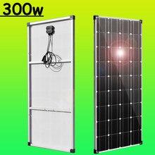 panel solar placas solares 300W 12v cargador solar Monocristalino Coche RV Boat Camper autocaravana 12v/24v Cargador de batería de casa Sistema de viaje exterior 1000w para casa
