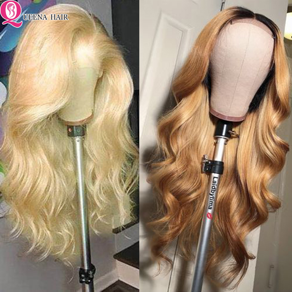 Blonde Lace Front Wig Peruvian Ombre 1b/99j Burgundy Colored Lace Front Human Hair Wigs For Black Women Natural Hairline Remy