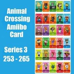Serie 3 (253-265) animal Crossing Kaart Amiibo Kaarten Sloten Nfc Kaart Werken Voor Schakelaar Ns 3DS Games Amiibo Kaart Nodigen Dier