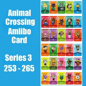 Series 3 (253 to 265) Animal Crossing Card Amiibo Cards locks nfc Card Work for Switch NS 3DS Games Amiibo Card Invite Animal