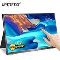 Портативный сенсорный экран UPERFECT, 15,6 дюймов, мобильный дисплей, игровой процессор sRGB, 100% цветовая гамма, тонкий светильник, широкий угол обз...