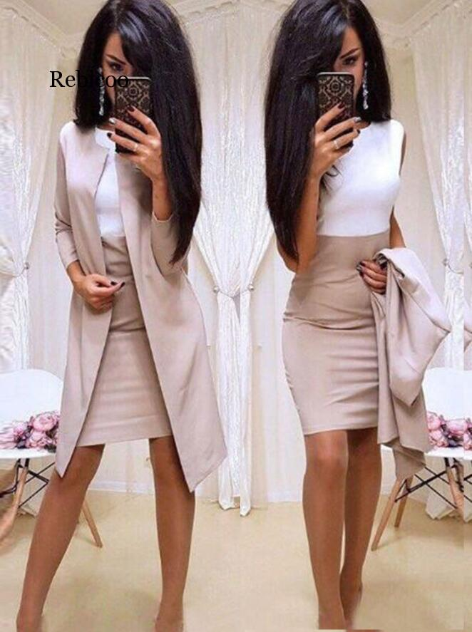 Fashion Women Skirt Suits One Button Notched Striped Blazer Jackets And Slim Mini Skirts Two Pieces Ol Sets Female Outfits