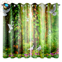 Double Bedroom Curtain Forest Curtains For Living Room Kitchen Bathroom Blackout Window Curtain Waterproof Rideaux Pour Le Salon