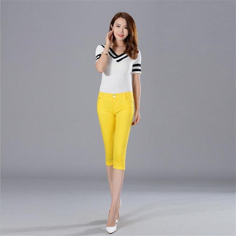 Female Summer plus size Leggings Pencil Pants Bodycon Slim Leggings Capris skinny trousers oversized stretch Pantacourt jeans