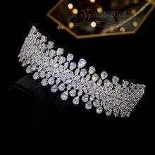 Tocado de boda tocado, corona de cristal de Accesorios nupciales para el cabello, fiesta de cumpleaños ceremonia de graduación Accesorios