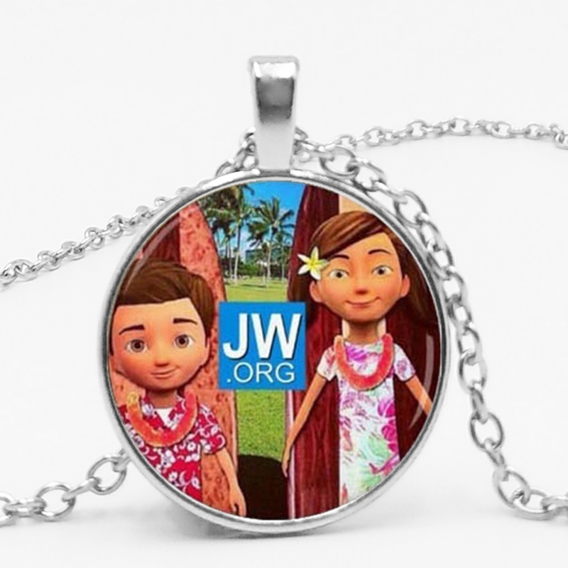 2019 New JW Fashion Trend Time Broken Glass Pendant Necklace Birthday Gift Clothing Ornament Pendant in Pendant Necklaces from Jewelry Accessories
