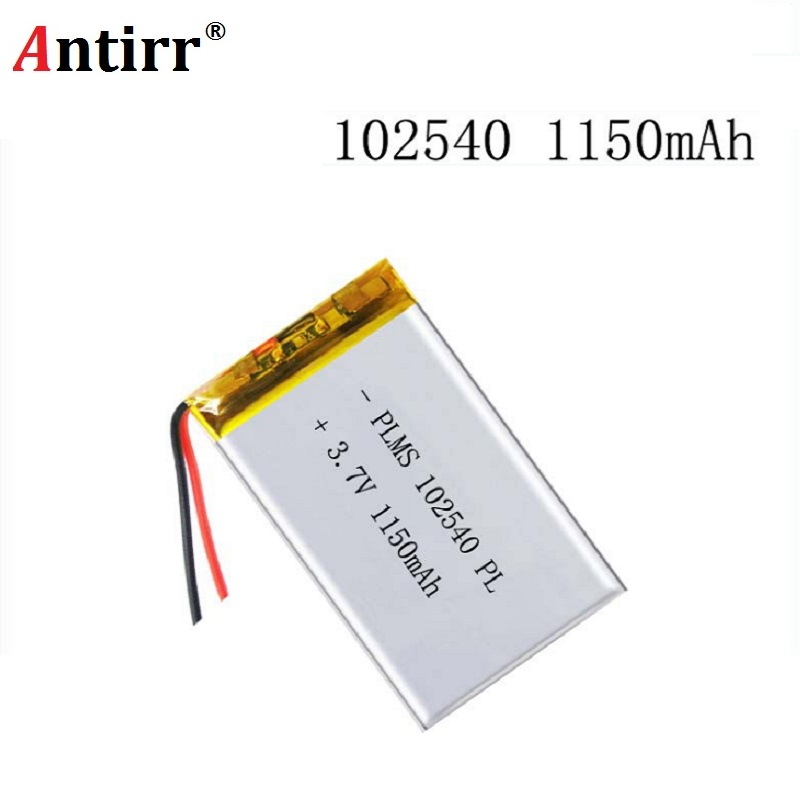 102540 1150mAh 3.7V Rechargeable Lithium Li-Polymer Batteries For LED Lights Lamps Electronic Products