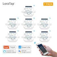LoraTap-interruptor inteligente Wifi para iluminación en casa, dispositivo de automatización de luz con temporizador de 10A, funciona con Google Home, Amazon y Alexa