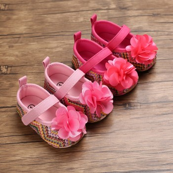 Bobora Baby Girl Flower Fashion Princess Shoes Toddler Shoes image