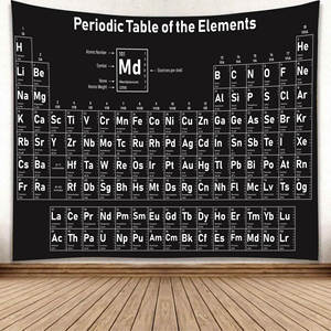 Tapestry Chemical Periodic Table-Of-Element Home Mat Mural Background Hanging Fabric