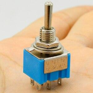 Image 2 - Förderung! 5 stücke 3 Position 2P2T DPDT ON OFF AUF Miniatur Mini Kippschalter