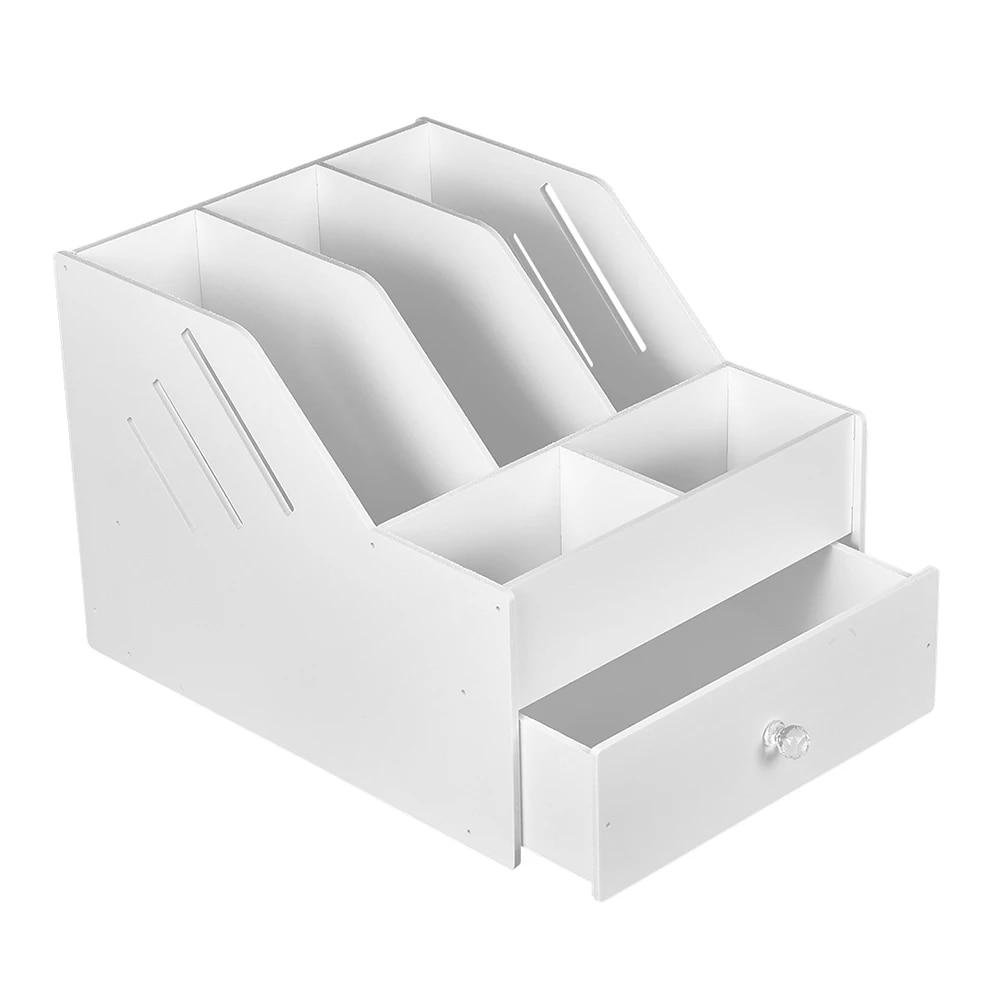 book magazine holder desk organizer stationery storage stand shelf rack desktop file rack storage artifact multi layer