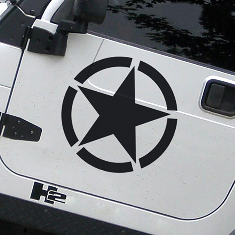 Car Truck Jeep Wrangler Vinyl Sticker Emblem Military USMC Tribal Skull Decal