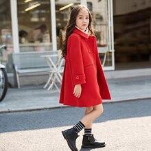 Baby Girls Red Wool Jackets Coats 2019 Autumn Winter Outwear