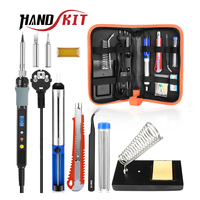 Handskit 80W Digital Soldering Iron kit Electric Soldering Iron With On-Offf Switch  Knife Desoldering Pump Soldering Iron Tools