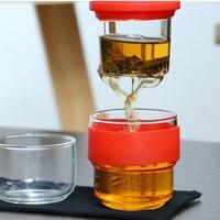 Новый чайный набор для путешествий кунг-фу  чайный горшок с портативным чехлом  стеклянные чайные чашки с заваркой для путешествий  дома VA88