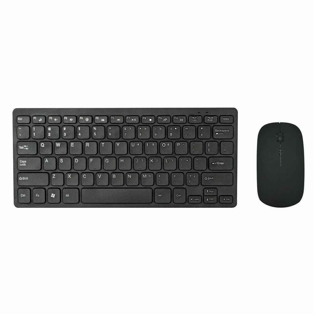 2.4GHz Multimedia Buttons Ergonomic Combo Mini Home Keyboard Mouse Set Wireless Ultra Thin Gaming Optical Non Slip Sensitive