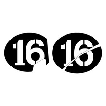 Motorcycle Decals Number 1 20 Case for Vespa Series 2 Sei Giorni GTS 300 GTV HPE