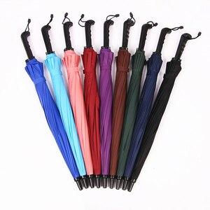 Image 3 - חם מטריית גשם נשים צבעוני 16K קשת ארוך מטריית גברים נשים Windproof Guarda Chuva גולף ברור מטרייה גדול שמשייה